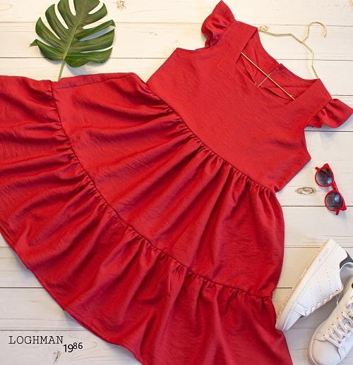 سارافون مدل عروسکی - سارافون - لباس زنانه - لباس دخترانه - قیمت سارافون - پخش عمده سارافون - پیراهن - پیراهن زنانه - پخش پوشاک لقمان